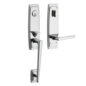 Polished Chrome Palm Springs 3/4 Escutcheon Handleset