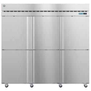 HoshizakiF3A-HS, Freezer, Three Section Upright, Half Stainless Doors with Lock