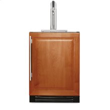24 Inch Overlay Solid Door Beverage Dispenser - Left Hinge Overlay Solid