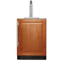 24 Inch Overlay Solid Door Beverage Dispenser - Left Hinge Overlay Solid