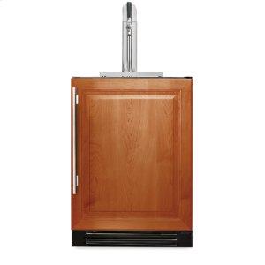 True Residential24 Inch Overlay Solid Door Beverage Dispenser - Left Hinge Overlay Solid