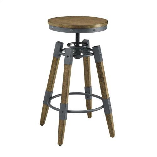 Hornell Rustic Adjustable Bar Stool
