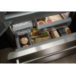 """24.2 Cu. Ft. 42"""" Width Built-In Panel Ready French Door Refrigerator With Platinum Interior Design - Panel Ready Pa"""