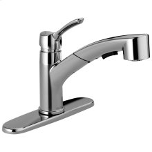 Chrome Single Handle Tract-Pack Pull-Out Kitchen Faucet