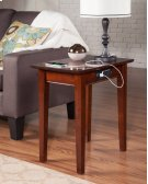 Shaker Chair Side Table with Charger Walnut Product Image