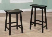 "BARSTOOL - 2PCS / 29""H / BLACK SADDLE SEAT"