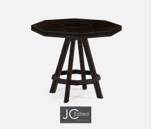 Dark Ale Side Table with Octagonal Top