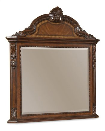 Old World Crowned Landscape Mirror Product Image