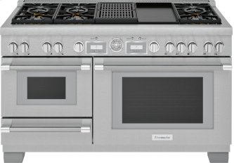 60-Inch Pro Grand(R) Commercial Depth Dual Fuel Steam Range