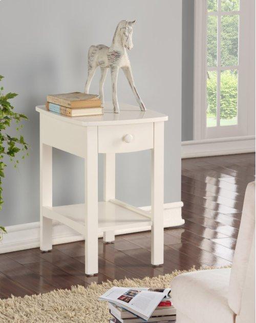Emerald Home Home Decor 1 Drawer Nightstand-white B343-04wht