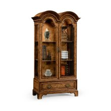 Queen Anne Pollard Veneer Bookcase with Glazed Doors