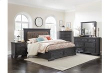 Queen Platform Bed with Footboard Drawers