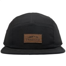 Traeger Black 5 Panel Adjustable Hat