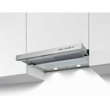 24 Telescopic extension hood, 1 motor 300 CFM Stainless Steel