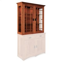 "Prairie Mission Closed Hutch Top, 44""w, Antique Glass Product Image"