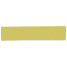 "Door Accessories  6"" x 30"" Kickplates - Bright Brass"