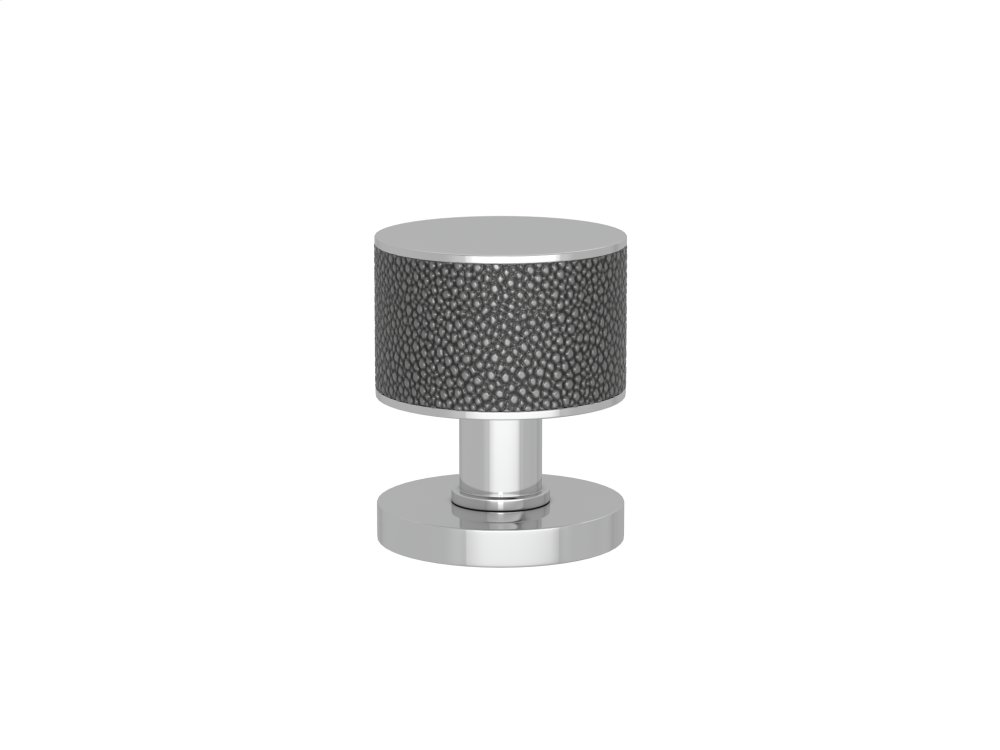 Stacked Shagreen Recess Amalfine In Alupewt And Bright Chrome