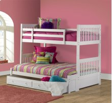 Lauren Twin/full Bunk W/ Trundle/storage Drawer