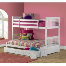 Lauren Twin Full Bunk W Trundle Storage Drawer