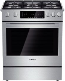 "30"" Gas Slide-in Range 800 Series - Stainless Steel"