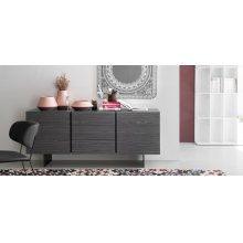 Sideboard with 2 doors, 3 drawers and metal base
