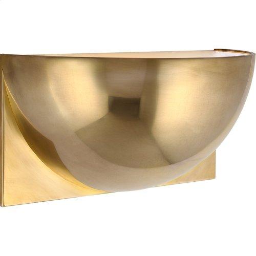 Visual Comfort PB2070NB-FG Peter Bristol Quarter Sphere LED 10 inch Natural Brass Up Light Wall Light, Small