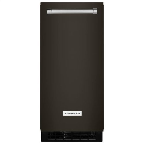 KitchenAid® 15'' Automatic Ice Maker with PrintShield™ Finish - Black Stainless