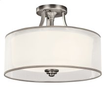 Lacey 3 Light Semi Flush Antique Pewter
