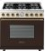 Additional Range DECO 36'' Classic Brown dual color, Bronze 6 gas, gas oven