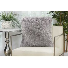 "Shag Tl004 Light Grey 20"" X 20"" Throw Pillows"