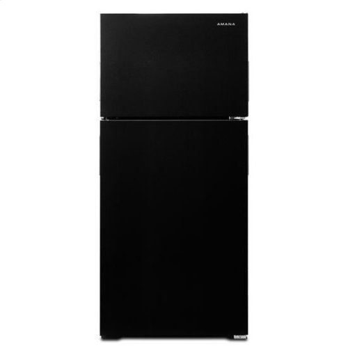 28-inch Wide Top-Freezer Refrigerator with Dairy Center - 14 cu. ft. - black