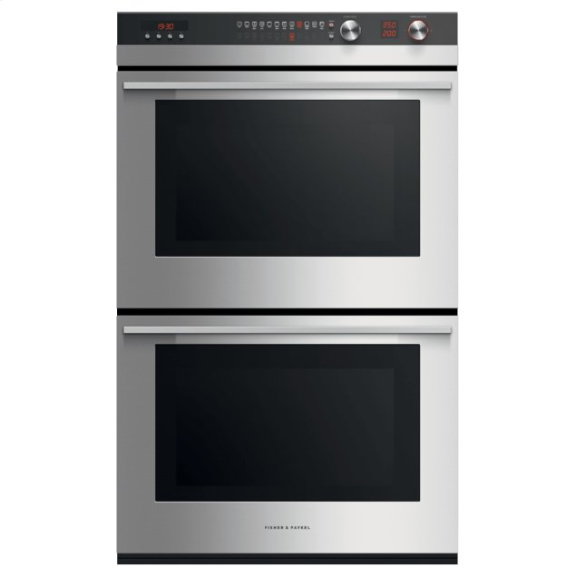 "Fisher & Paykel Double Oven, 30"", 11 Function, Self-cleaning"