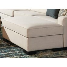 Wylder Transitional Ivory Ottoman