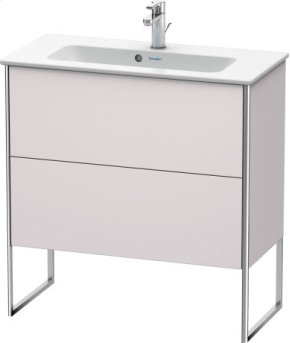 Vanity Unit Floorstanding Compact, White Lilac Satin Matt Lacquer