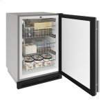 """u-line1000 Series 24"""" Outdoor Convertible Freezer With Stainless Solid Finish and Field Reversible Door Swing"""