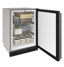 """1000 Series 24"""" Outdoor Convertible Freezer With Stainless Solid Finish and Field Reversible Door Swing"""