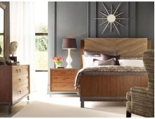 Chevron Maple Cal King Bed Package