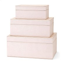 Beth Kushnick Pink Storage Boxes - Set of 3