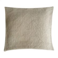 "Amber Woven Stripe Square Pillow (22"" X 22"") - Oatmeal"