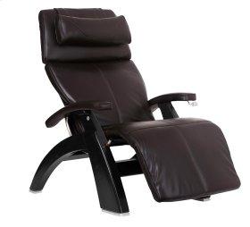 Perfect Chair PC-420 Classic Manual Plus - Espresso Top-Grain Leather - Matte Black