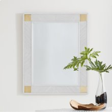 Rattan Mirror-White Painted