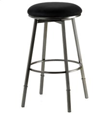 Sanders Backless Swivel Counter/barstool Black