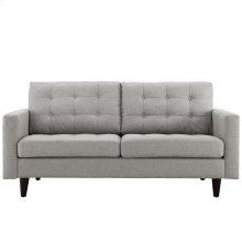 Empress Upholstered Fabric Loveseat in Light Gray