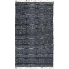 5'x8' Size Indigo Block Print Rug