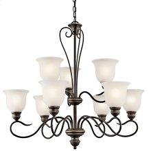 Tanglewood 9 Light Chandelier with LED Bulbs Olde Bronze®