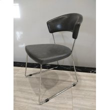 Healy Contemporary Grey and Chrome Side Chair