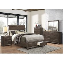 1026 Grayson Queen Storage Bed with Dresser & Mirror