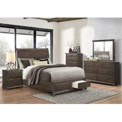 1026 Grayson King Storage Bed with Dresser & Mirror