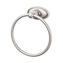 Edwardian Bath Ring Oval Backplate - Antique Pewter