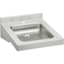 "Elkay Sturdibilt Stainless Steel 19"" x 23"" x 4"", Wall Hung Single Bowl Lavatory Sink"